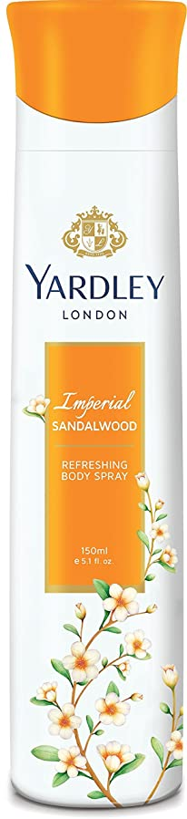 放射性過去病なYardley London Refreshing Body Spray Imperial Sandalwood 150ml