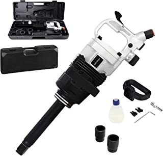 FULLWATT 1-Inch Air Impact Wrench Gun Heavy Duty Pneumatic Impact Wrench Tool with 8-Inch Extended Anvil Commercial Truck Mechanics w/Case