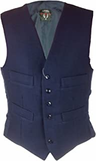 MB Clothing Mens Moleskin Waistcoat Satin Lining Back with Buckle 4 Pockets 6 Front Buttons Smart Casual Wear Sizes S Ches...