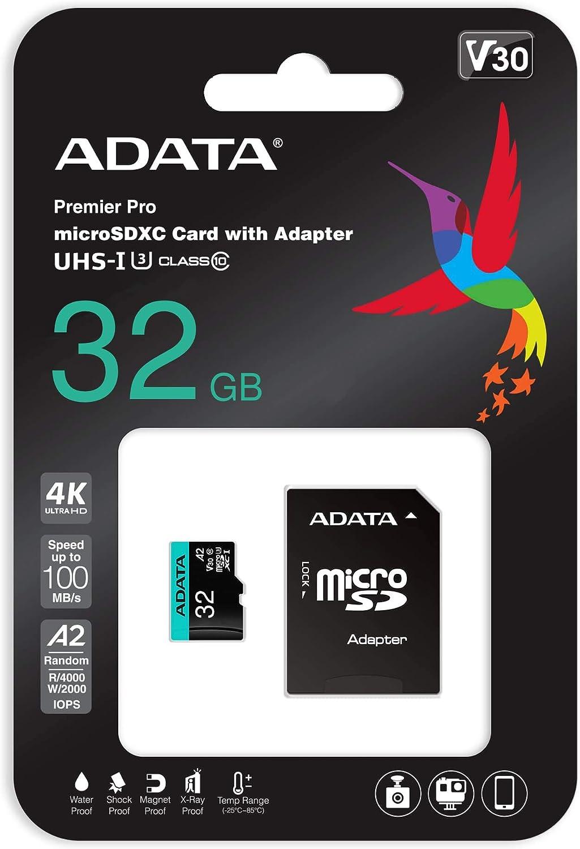 Adata 64gb Uhs I U3 V30s A2 Micro Sdxc Computers Accessories