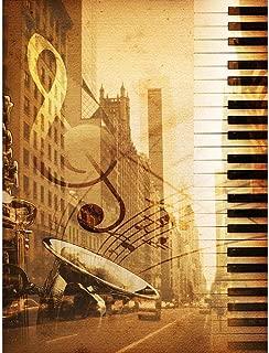 Wee Blue Coo Music Mock Up Broadway New York Jazz Sax Unframed Wall Art Print Poster Home Decor Premium