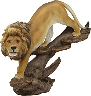 Ebros Gift Large African Wildlife King Lion Descending from Pride Rock Statue 14.25