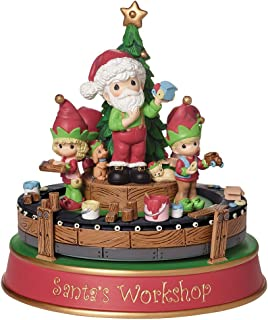"Precious Moments, Santa's Workshop Deluxe Music Box"", Resin Figurine, 161107"