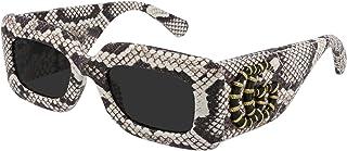 Lunettes de Soleil Gucci GG0816S Snake Leather/Grey 52/22/145 femme