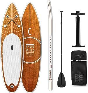 CapitalSports Downwind Cruiser - Set de Paddle Surf Hinchable, 8,7 Kg, Conjunto: Tabla, Pala Extensible, Mochila (55 L), Leash, Kit reparación, Inflador, Antideslizante, PVC, Goma EVA