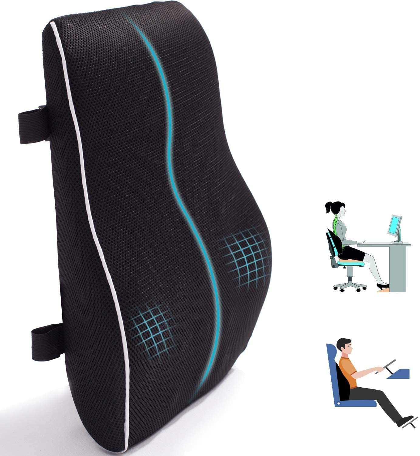 Lumbar Support Pillow for Office Chair Sales results No. 1 Memory Ranking TOP14 Car Foam Cush Back