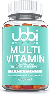 Ubbi Nutrition Premium Multi Vitamin Gummies , Chewable for Adults, Men and Women - Vitamins & Minerals + Biotin & ZincTa...