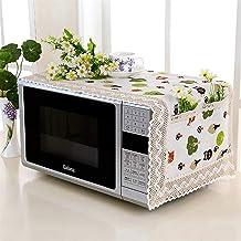 HHYK Cubierta de microondas Horno microondas Campana Aceite Protector contra el Polvo con Bolsa de Almacenamiento Accesorios Cocina de la Caja Organizador Inicio Decoración (Color : Style 1)
