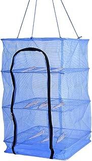 Finlon Drying Rack Folding Fish Mesh 4 Layers Fish Net Blue