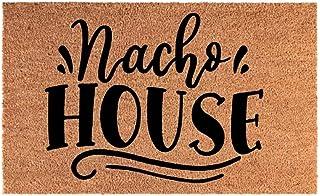 """Funny Door Mat Welcome Coir Doormat Nacho House Indoor Outdoor Entry for Front Door Home Decor 15.7"""" x 23.6"""""""