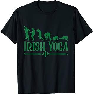 Funny St Paddys Day Tshirt Irish Yoga
