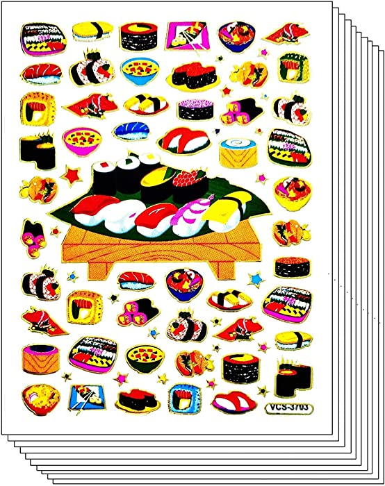 Top 10 Food Stickers Japanese