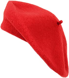 Nollia  Ladies Solid Colored French Wool Beret