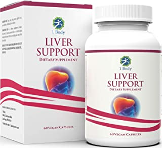 Liver Cleanse and Support Supplement – Milk Thistle Extract (Silymarin), Turmeric Curcumin, Dandelion Root, Artichoke, N A...