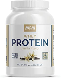 MCM Nutrition - Isolate Whey Protein Powder That's Low Carb - Vanilla (1.5 LB) - Delicious Post Workout Protein - Absorbs Quick and Starts Building Muscle Fast with BCAAs (23 Servings)