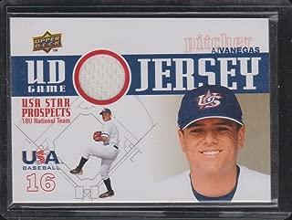 2009 Upper Deck A.J. Vanegas USA Game Used Jersey Baseball Card #GJU-18