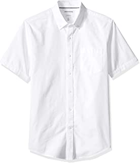 Amazon Essentials Men's Slim-Fit Short-Sleeve Pocket Oxford Shirt