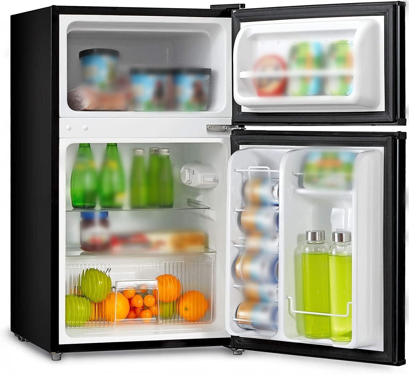 Refrigerators Appliances Double-Door Mini Fridge 3.1 Cu Ft,113-FW1 ...