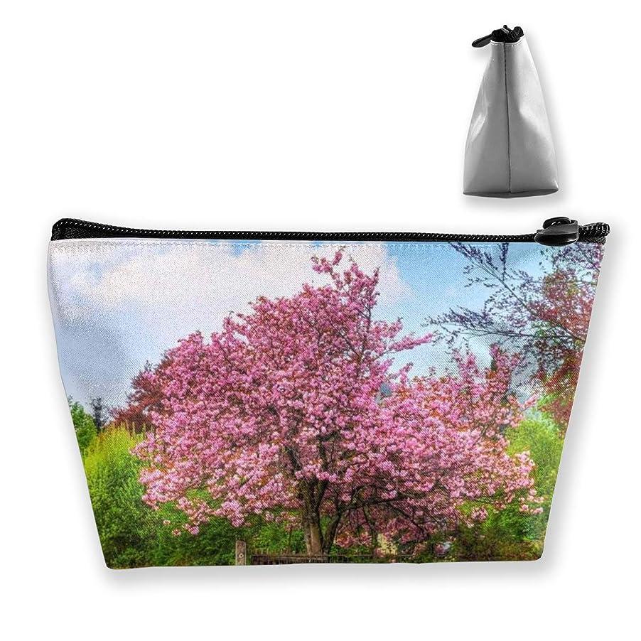 ピストン舌な無許可Szsgqkj 日本の桜 化粧品袋の携帯用旅行構造の袋の洗面用品の主催者
