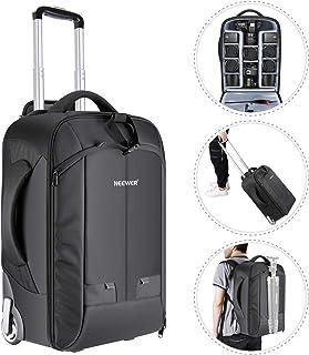 Neewer – Mochila Convertible en Maleta de Ruedas para cámaras SLR/DSLR y Accesorios (NW3300) Negro