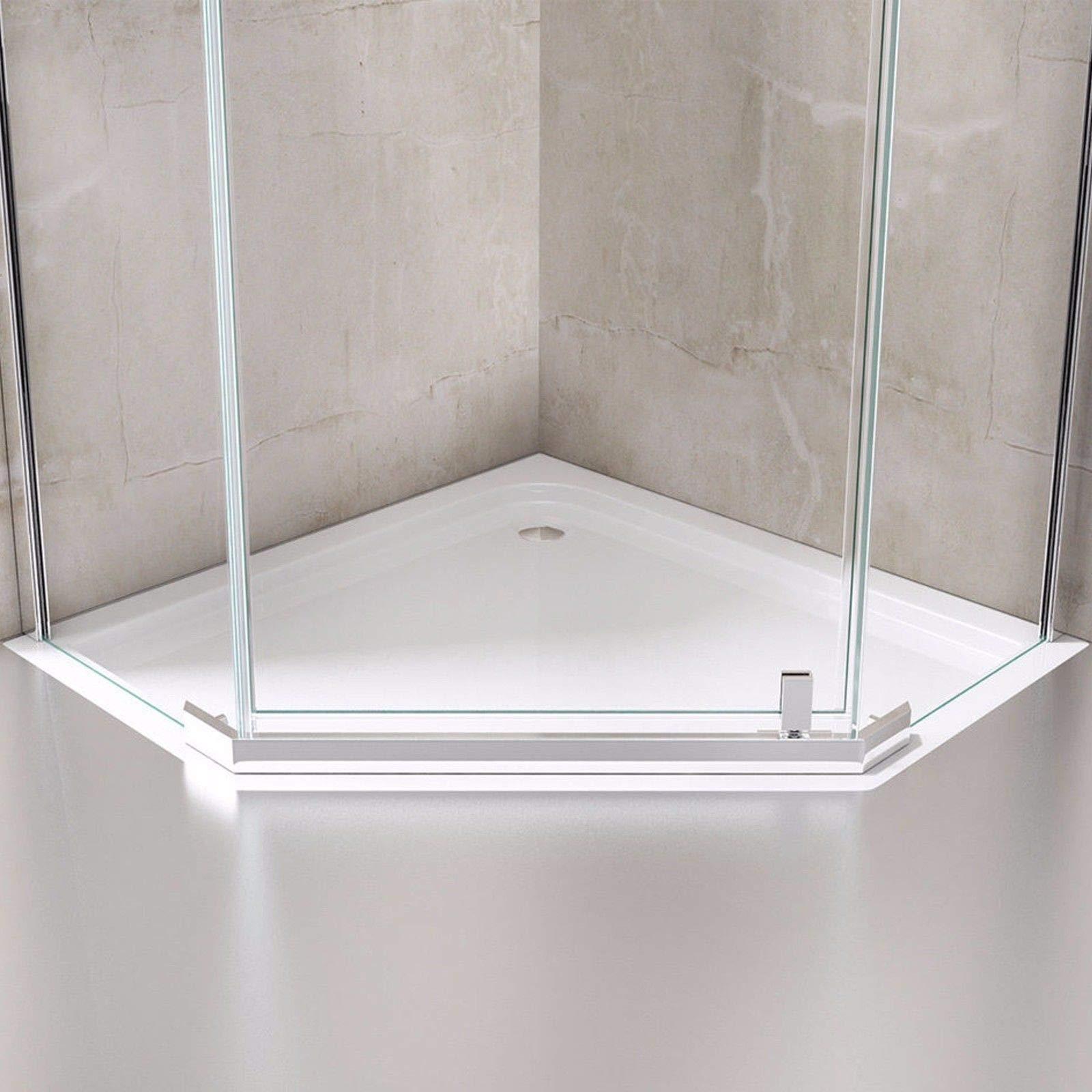 durovin baños Ravenna 8 Pentagonal sin marco 8 mm Pivot cristal ...