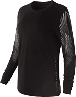 HARLEY-DAVIDSON Official Women's Wing Sleeve Tee, Black (Small)