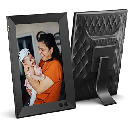 NIX 8 Inch Digital Picture Frame (Non-WiFi) - Portrait or Landscape Stand, HD Resolution, Auto-Rotate, Remote Control - Mix Photos and Videos in The Same Slideshow