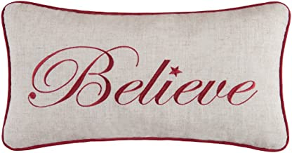 C&F Home 10x19 Embroidery Christmas Pillow, Believe