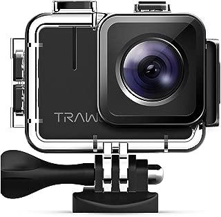 APEMAN 【Nueva versión - 50FPS Trawo Camara Deportiva Ultra HD 4K WiFi 20MP Cámara con Sensor avanzado EIS Estabilizado 40M Impermeable 2 '' Pantalla IPS, con 2 baterías de 1350mAh