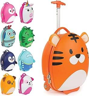 boppi Tiny Trekker Kids Cabin Bag Vacation Luggage Cases, Tiger (Orange) - Does Not Apply