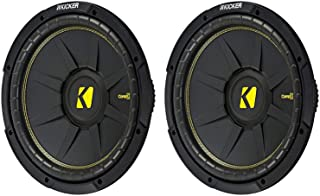 KICKER 44CWCS124 CompC 12 Inch 600 Watt 4 Ohm Single Voice Coil Car Audio Subwoofers with Polypropylene Cone and Polyureth... photo