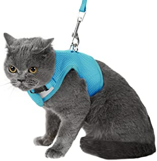 3ca41386324e Escape Proof Cat Harness with Leash Adjustable Soft Mesh - Best for Walking