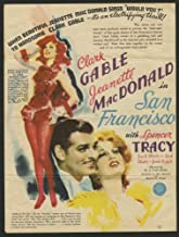 San Francisco (1936) Original Theater handbill or herald CLARK GABLE SPENCER TRACY JEANNETTE MACDONALD Film Directed by W.S. VAN DYKE Absolutely authentic.