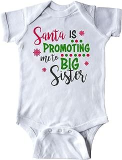 inktastic Santa is Promoting Me to Big Sister Infant Creeper