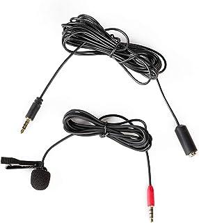 ميكروفون Saramonic Lavalier بمشبك للهواتف الذكية مع كابل تمديد 4M ميكروفون فيديو احترافي (SR-LMX1+)