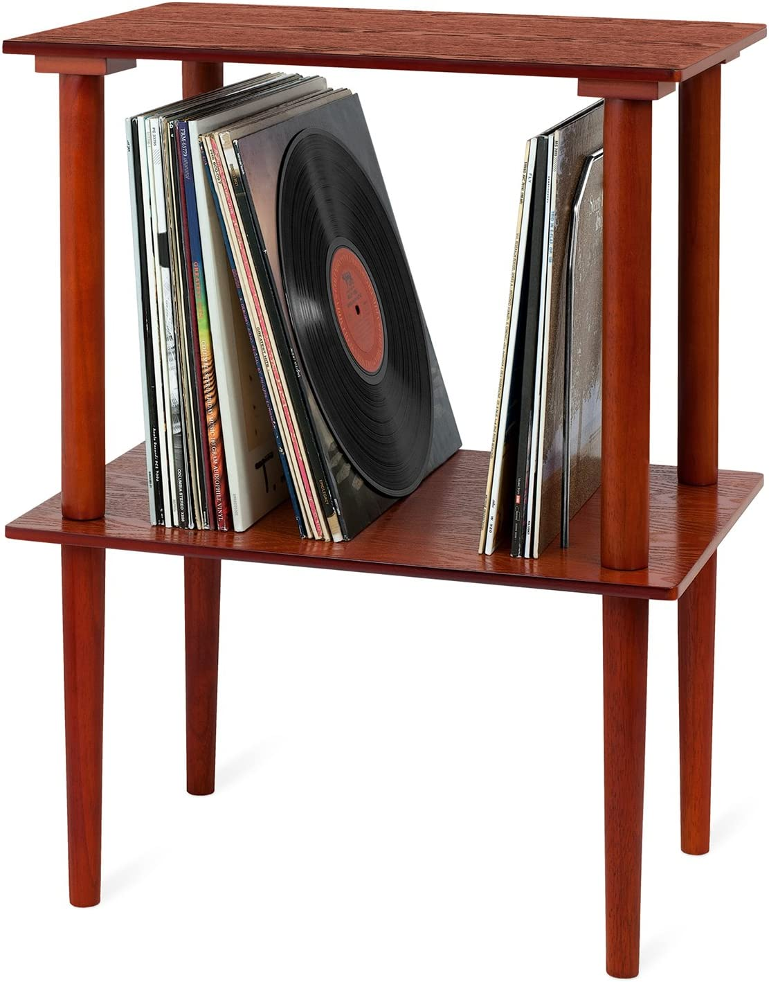 Victrola Wooden Stand for Wooden Music Centers with Record Holder Shelf Espresso