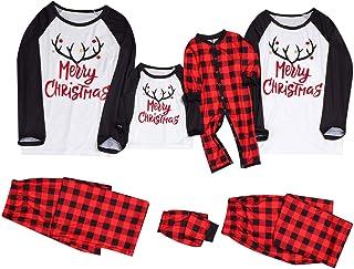 Pijamas Navidad para Familias Invierno de Manga Larga Pijama Navidad Ropa de Dormir Mujeres, niños pequeños,Hombre Familiar Juego