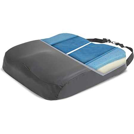 """ProHeal Wheelchair Seat Cushion Gel Infused Memory Foam - Orthopedic, Coccyx, Tailbone Support - High Resilience for Positioning and Stability Prevents Pressure Sores and Skin Damage -18"""" x 16"""" x 3"""""""