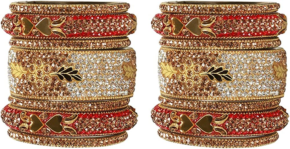 GLINT STORE Awesome Indian Bollywood Heavy Bangles Bracelets Wedding Pair for Women