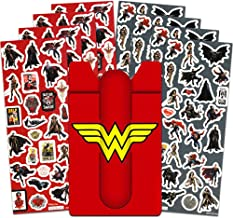 DC Comics Wonder Woman Wallet for Phone Set~ Deluxe Stick on Wallet for Cell Phone with Card Holder, Stand and Stickers (Wonder Woman Accessories)
