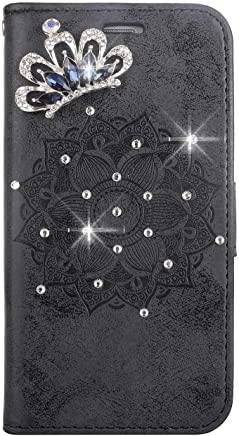 Bear Village  Galaxy Grand Prime Case  Premium Scratch Resistant Leather Case  TPU Inner Shell Flip Protective Cover with Card Slot for Samsung Galaxy Grand Prime  Black