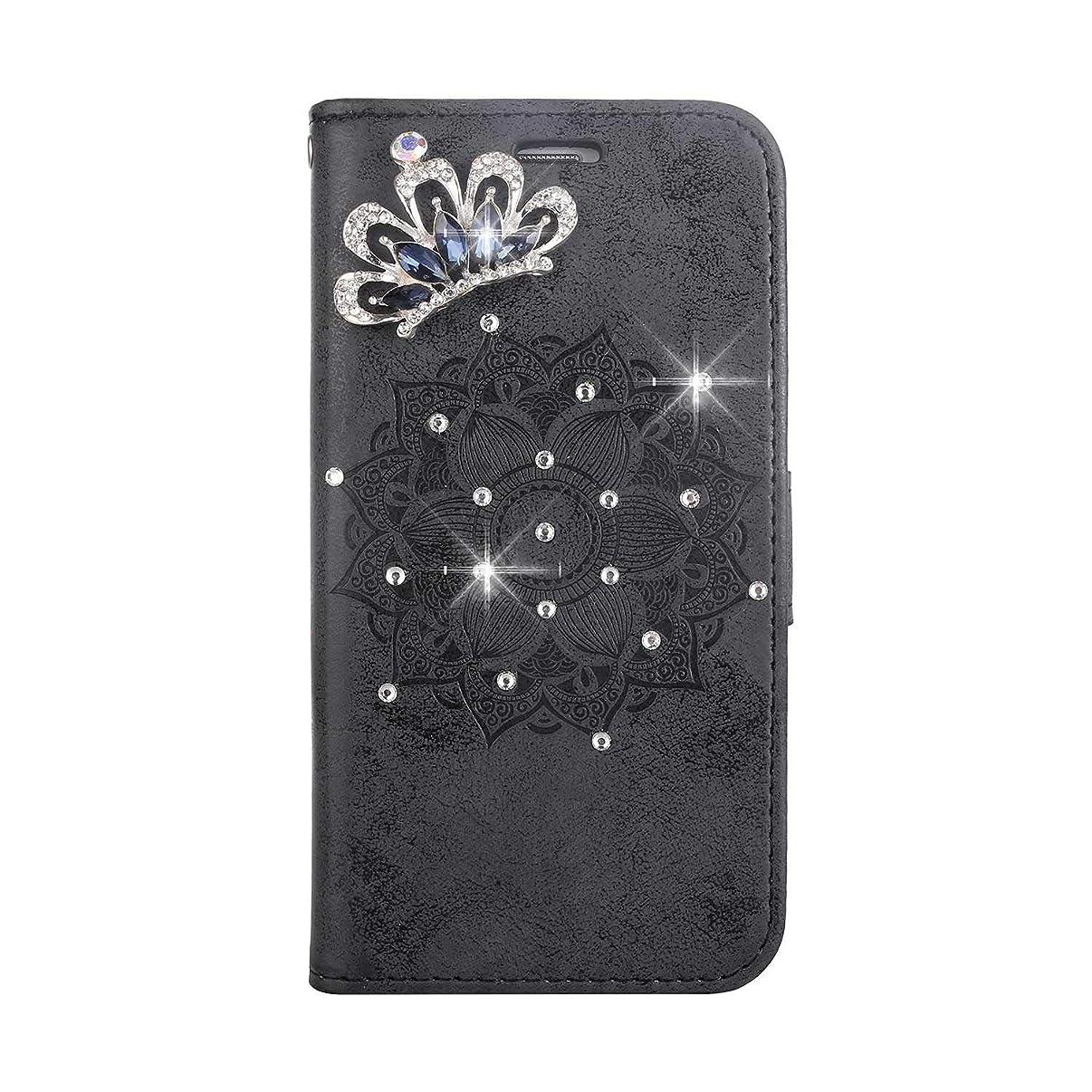 いちゃつく恐れる持ってるiPhone X/iPhone XS 防塵 ケース, CUNUS 高品質 合皮レザー ケース 超薄型 軽量 スタンド機能 キラキラ 星 れ カード収納 カバー Apple iPhone X/iPhone XS 用, ブラック