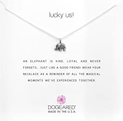 Lucky Us Elephant Reminder Necklace