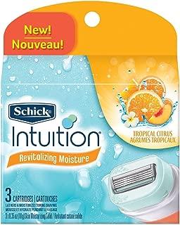 Schick Intuition Revitalizing Moisture Refill Cartridges,Tropical Citrus,  3-Count.