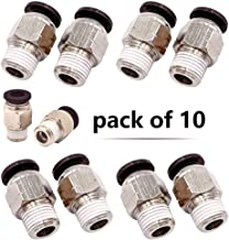 Beduan Pneumatic BPC Push to Connect Air Pipe Fittings Male Straight 4mm Tube OD x 1/8