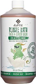 Alaffia - Everyday Shea Bubble Bath, Babies and Kids, Gentle Support to Clean, Moisturize, and Calm with Shea Butter, Lemon Balm, and Spearmint, Fair Trade, Eucalyptus Mint, 32 Ounces