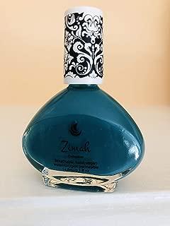 Zimah Nail Polish, Breathable, Vegan Nail Polish, Cruelty-Free, Toxin Free, Halal Nail Polish, Fast-Drying Nail Polish, Made in USA, Turquoise Cremon