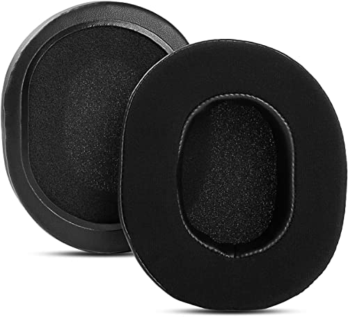 Upgraded Gel-Infused Ear Pads Cushions Cups Replacement Compatible with Sony MDR-7506 MDR-V6 MDR-CD900ST Studio Monitor Stereo Headphones Foam Earpads (Black Gel-Infused)