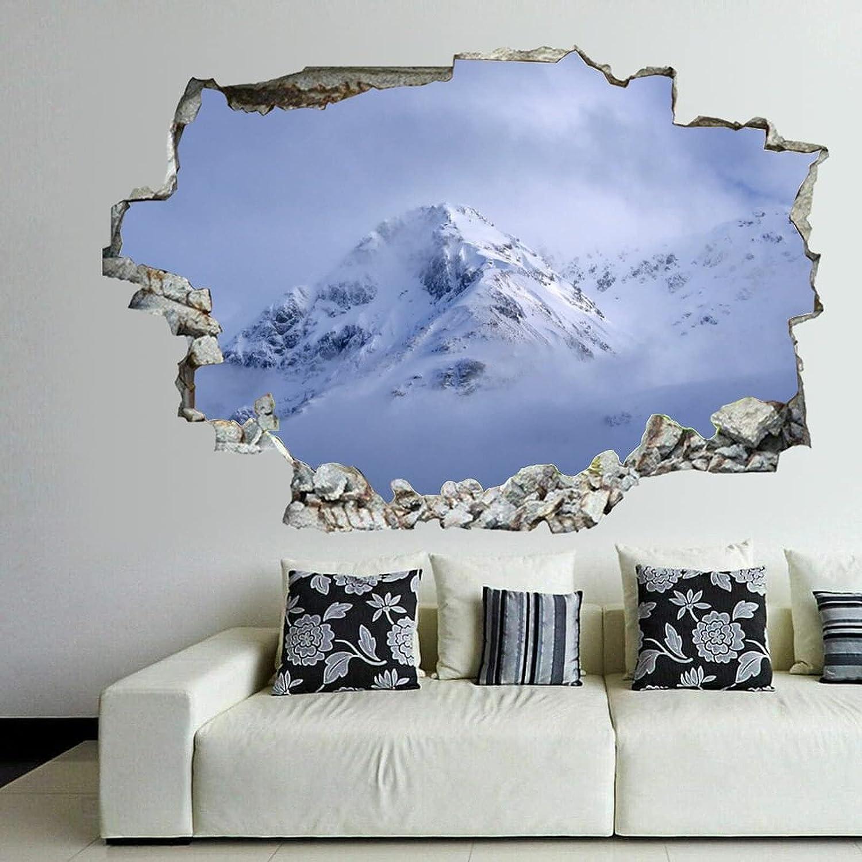 Break Through Wall Sticker Snow Mountain Landscape Lake V Brand new Ice Jacksonville Mall 3D
