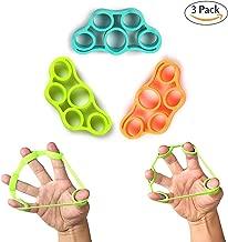 Hand Grip Strengthener, Finger Exerciser, Grip Strength Trainer Forearm Grip Workout, Finger Stretcher, Relieve Wrist Pain, Carpal Tunnel, Trigger Finger, Mallet Finger & More